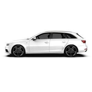 Audi A4 with Atom Black polish
