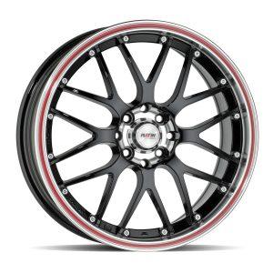 P61 Black, edge polish red ring