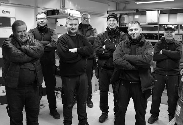Personalet på værkstedet